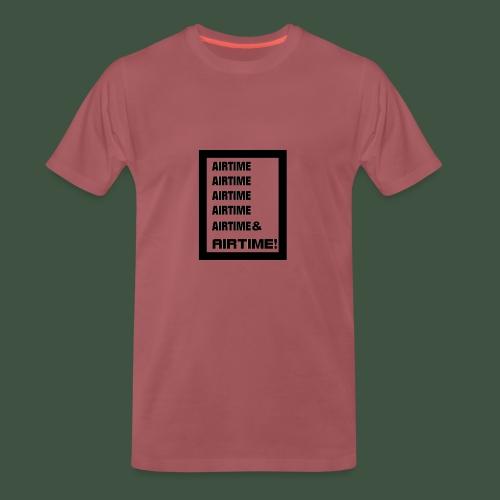 Airtime Logo schwarz auf weiss - Männer Premium T-Shirt