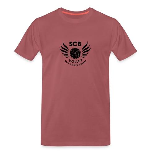 LogosVolleyBall MonochromeNoir - T-shirt Premium Homme