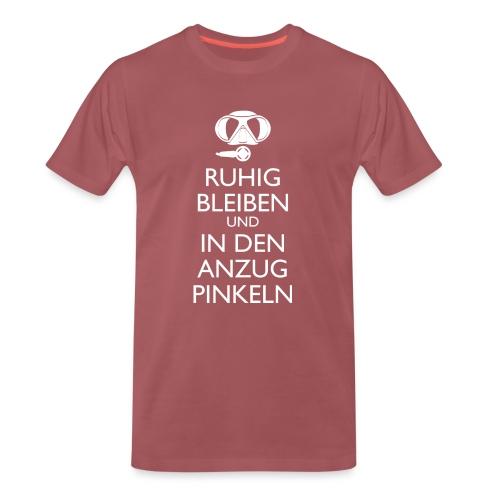 Ruhig bleiben und in den Anzug pinkeln - Männer Premium T-Shirt