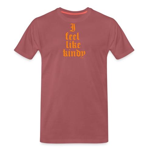 i feel like naranja - Camiseta premium hombre