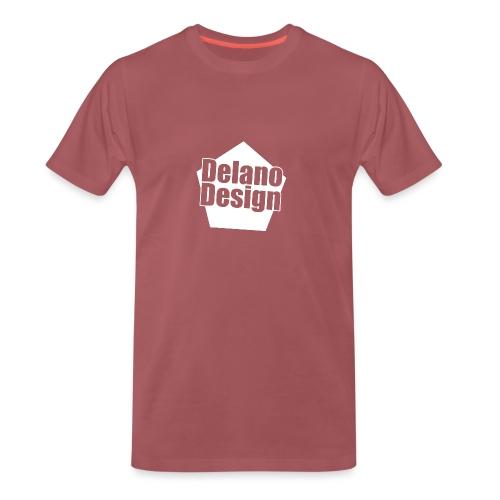 DelanoDesign - Logo Wit - Mannen Premium T-shirt
