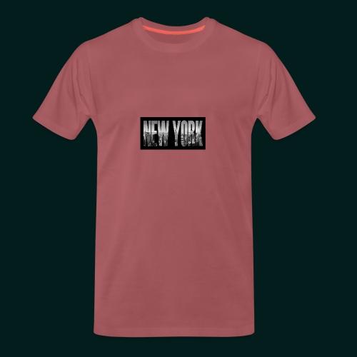 new-york-city-manhattan-overlook-melanie-viola - Premium-T-shirt herr