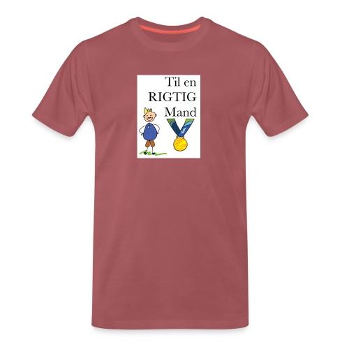 En rigtig mand - Herre premium T-shirt