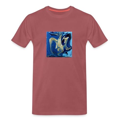 TIAN GREEN Welt Mosaik - AT042 Blue Passion - Männer Premium T-Shirt