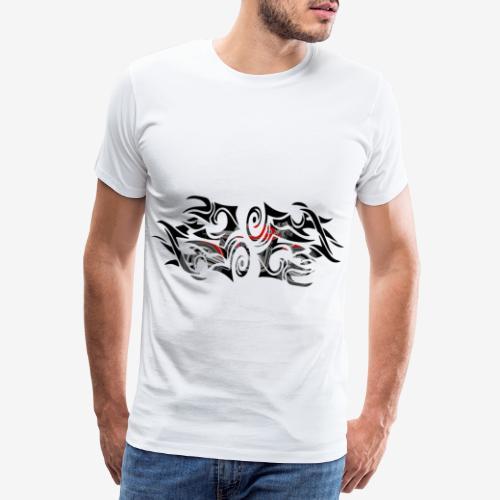 moto-caferacer-tribal-fir - T-shirt Premium Homme