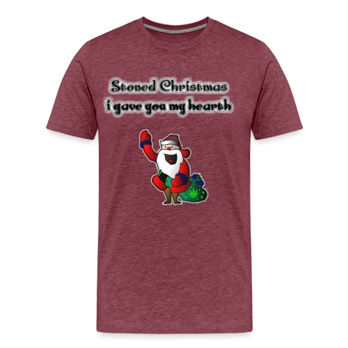 Weihnachtsmann, Stoned Christmas gave you my heart - Männer Premium T-Shirt