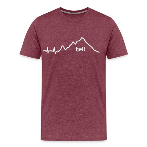 fjell - Premium T-skjorte for menn