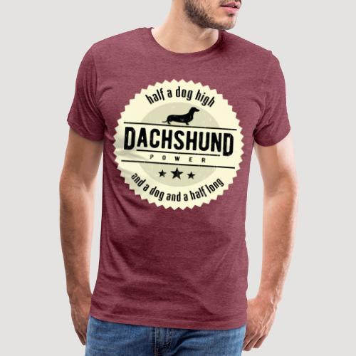 Dachshund Power - Mannen Premium T-shirt