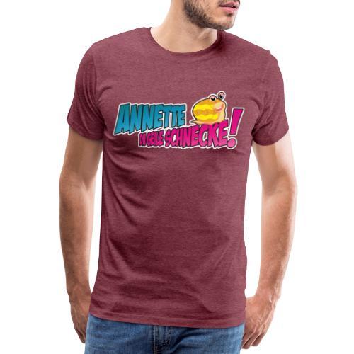 annette logo2_blau - Männer Premium T-Shirt