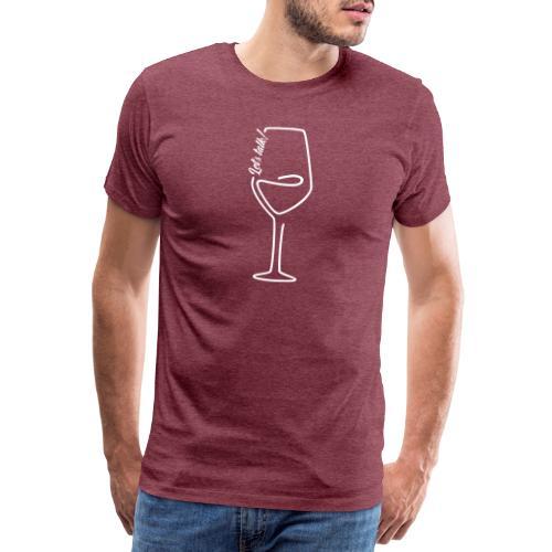 Weinglas mit Spruch - Männer Premium T-Shirt