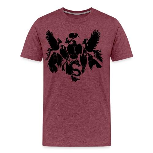9 alkulintua musta - Miesten premium t-paita
