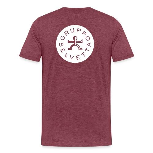 Logo dietro – America davanti – Bianco - Maglietta Premium da uomo