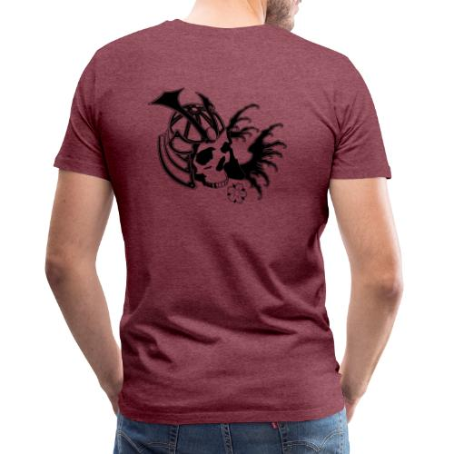 Samurai Skull - T-shirt Premium Homme