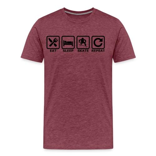 eat sleep skate repeat - Männer Premium T-Shirt