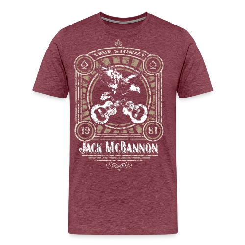 Jack McBannon - Vintage Eagle - Männer Premium T-Shirt