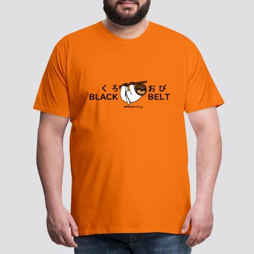 Zwarte gordel luiaard - Mannen Premium T-shirt