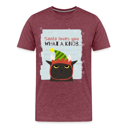 Funny Christmas Grumpy Cat Design. New Xmas Gift - Men's Premium T-Shirt