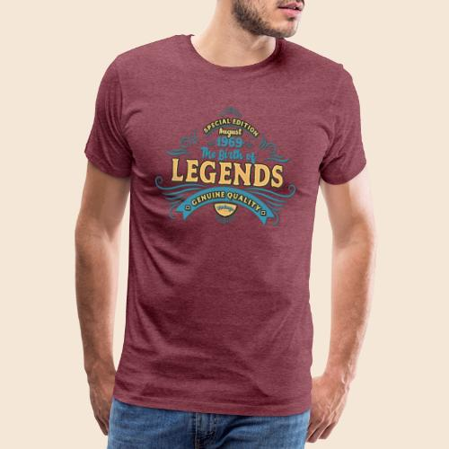 50. Geburtstag - August 1969 - Lustiges T-Shirt - Männer Premium T-Shirt