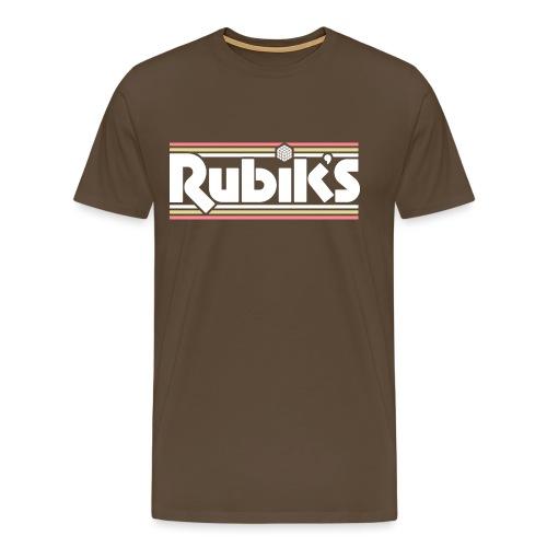Rubik's Cube Retro Logo - Men's Premium T-Shirt