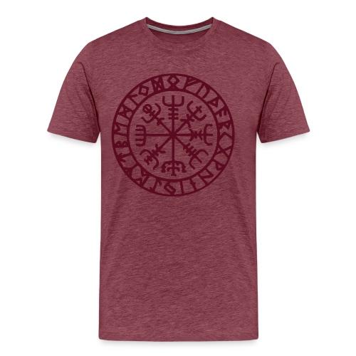 vegvisir Wegweiser Kompass Island Schutzsymbol - Männer Premium T-Shirt