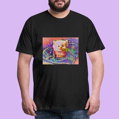 Gattino scintillante nella tasca dei jeans - Maglietta Premium da uomo