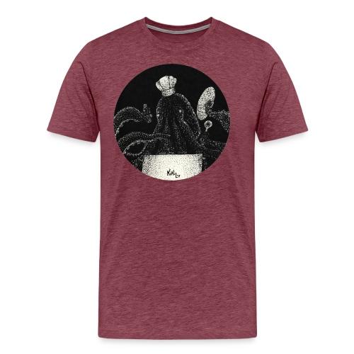 Octo - chef (Pulpo - cinero) - Camiseta premium hombre
