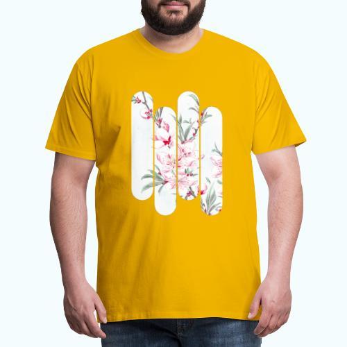 Vintage Japan watercolor flowers - Men's Premium T-Shirt