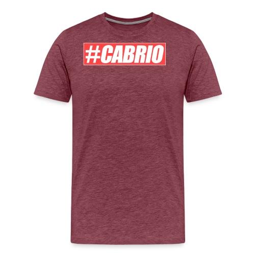 Cabrio Red Brand png - Männer Premium T-Shirt