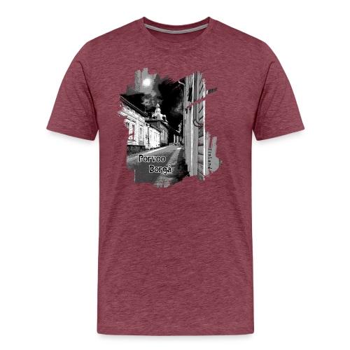 Porvoo vanhakaupunki - Tekstiili- ja lahjatuotteet - Miesten premium t-paita