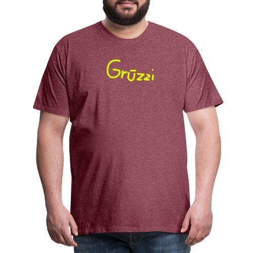 Grüzzi Handgeschrieben - Männer Premium T-Shirt