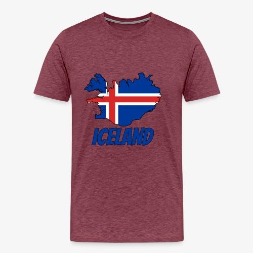 Iceland map - Camiseta premium hombre