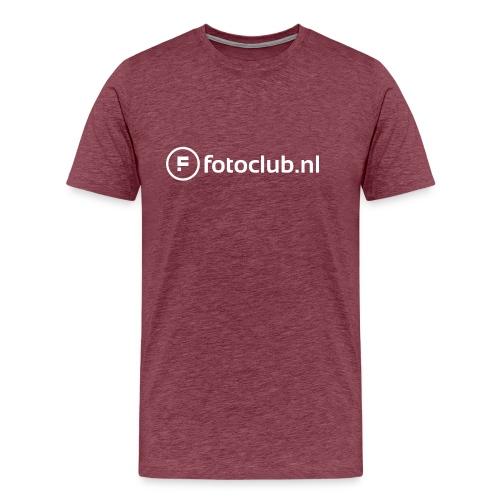 Logo Wit Fotoclublnl - Mannen Premium T-shirt
