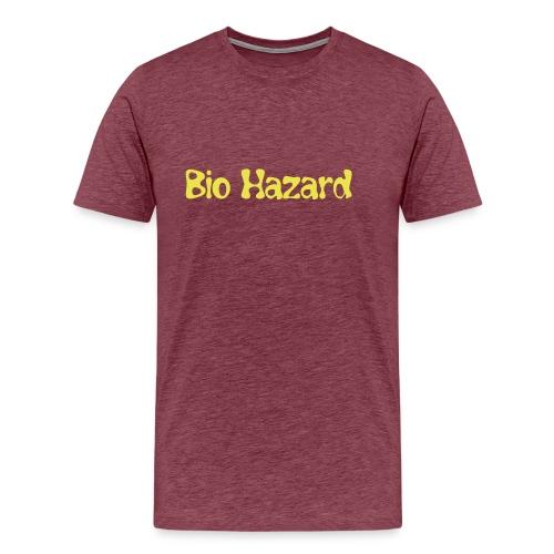 bio hazard text only - Mannen Premium T-shirt