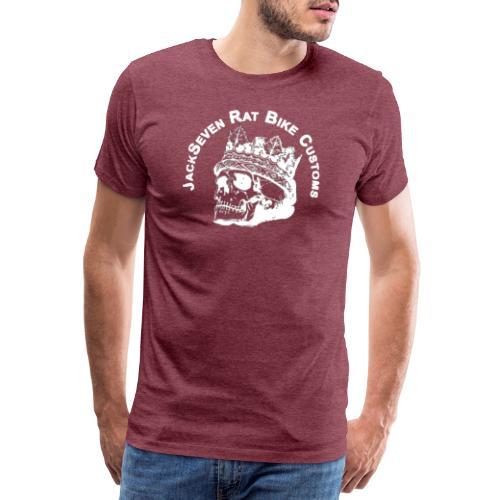 jackseven customs skull bobber chopper caferacer - Männer Premium T-Shirt