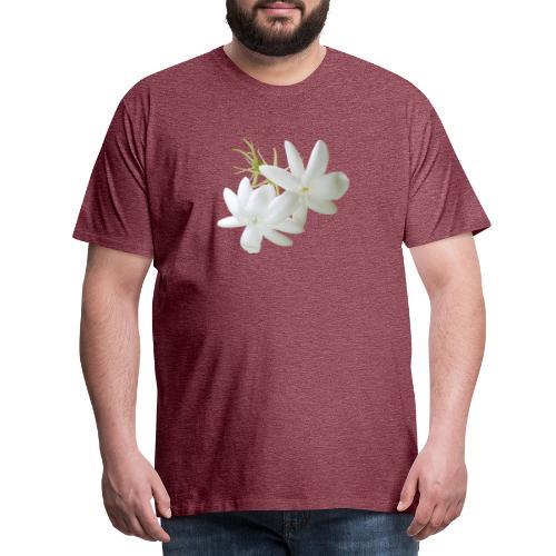 Jasmin weiss Blüte Strauch Duft Pflanze - Männer Premium T-Shirt