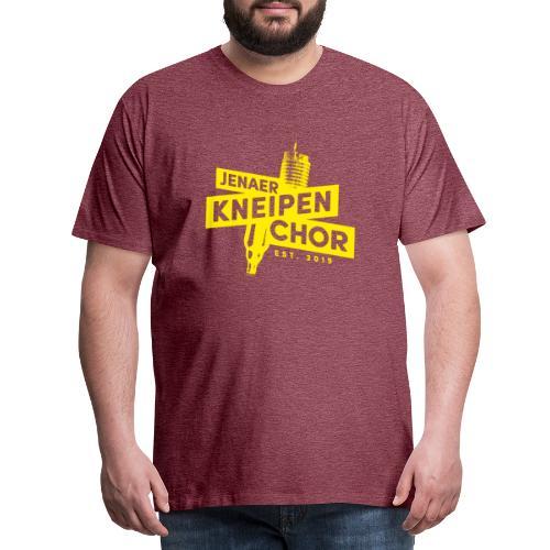 01 Jenaer Kneipenchor Logo gelb - Männer Premium T-Shirt