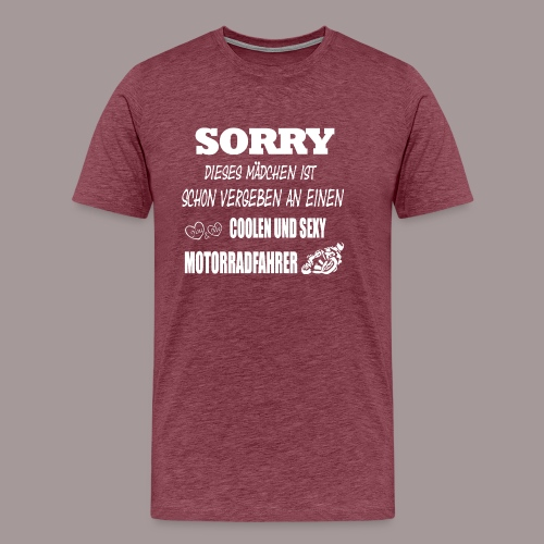 SORRY, VERGEBEN - Männer Premium T-Shirt