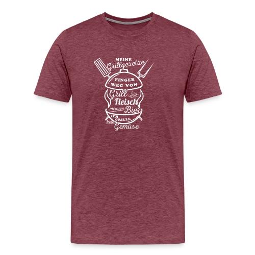 Grillgesetze-01 - Männer Premium T-Shirt