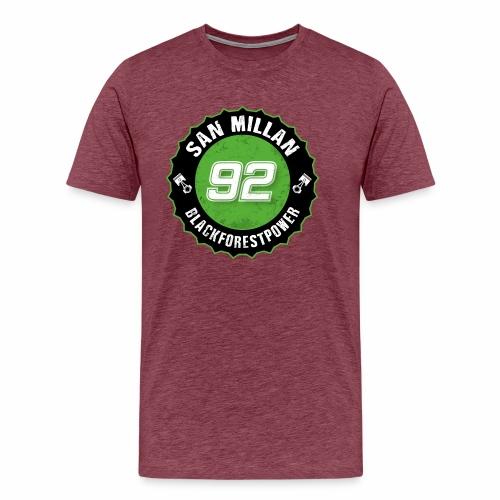 San Millan Blackforestpower 92 rund - schwarz - Männer Premium T-Shirt