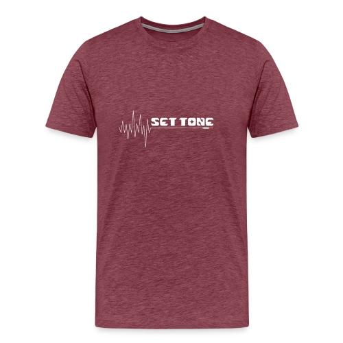 logo wit set tone 300dpi - Mannen Premium T-shirt