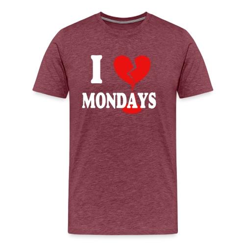 I hate Mondays (white) - Männer Premium T-Shirt