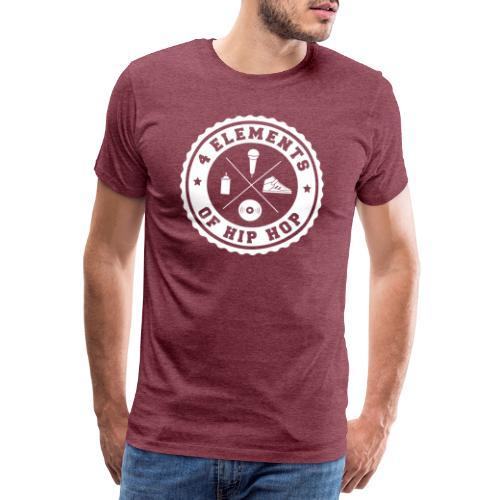 4 Elements Of Hip Hop 01 white edition - Männer Premium T-Shirt