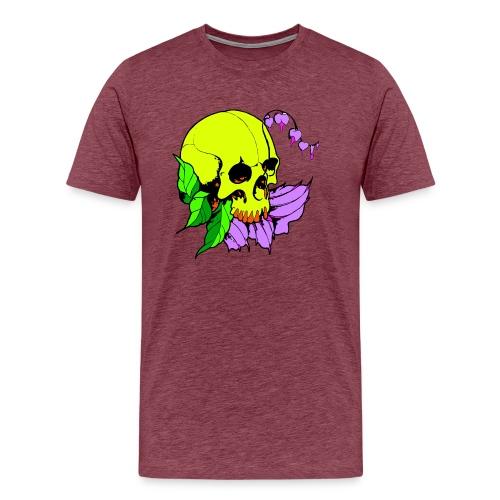 Skalle och blomma - Premium-T-shirt herr