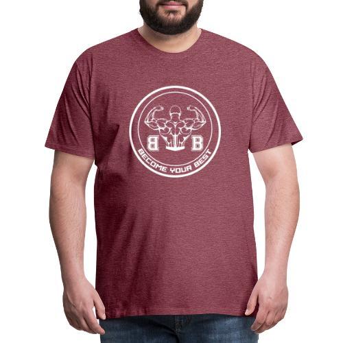 BYB logo white - Herre premium T-shirt