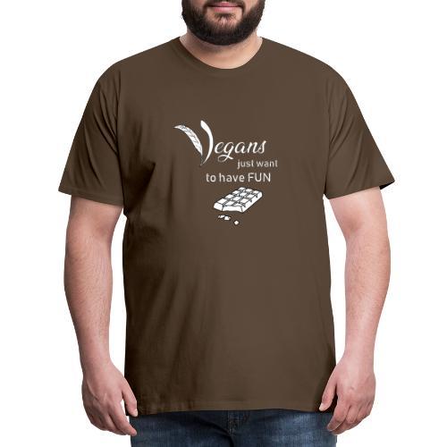 Vegans just want to have fun - tinte scure - Maglietta Premium da uomo