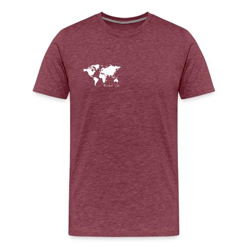 Weltkarte als Bucket List / Wanderlust - Männer Premium T-Shirt
