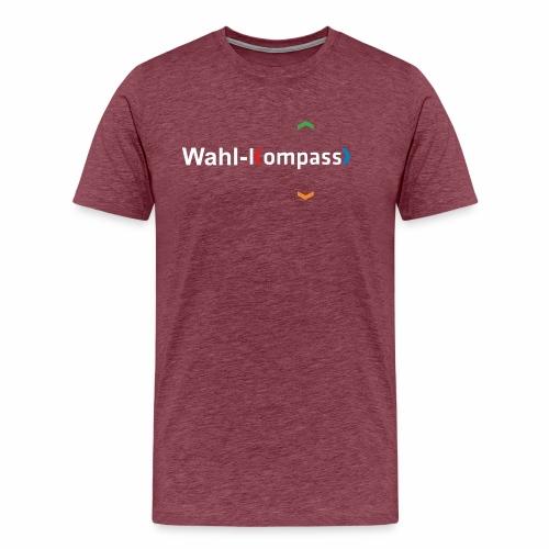 Wahl-Kompass Logo weiß - Männer Premium T-Shirt