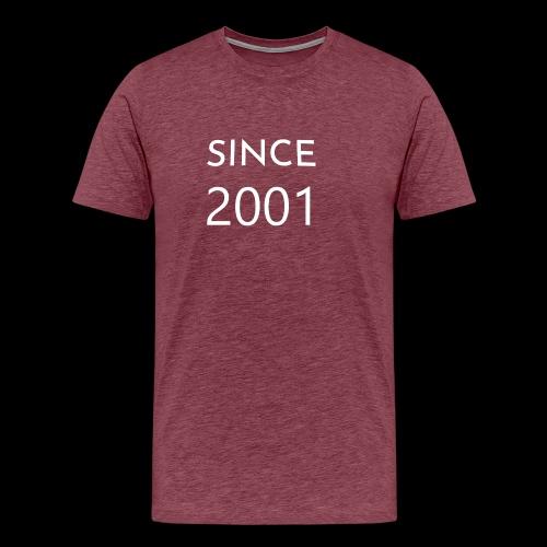 Geburtstag t-shirt zum 18 Jahr/ since 2001 - Männer Premium T-Shirt