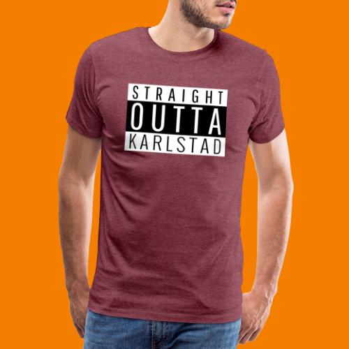 Straight outta Karlstad - Premium-T-shirt herr