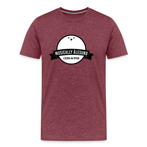 Musically Ålesund Official Logo - Premium T-skjorte for menn